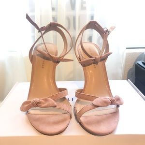 Pink strappy bow Heels